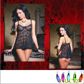 Lingerie  Babydolls Paris Black