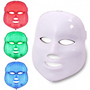 LEDs máscara para acne e rejuvenescimento facial.